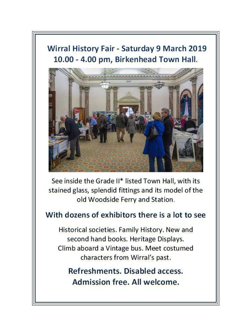 Wirral History Fair, Sat, 9 March