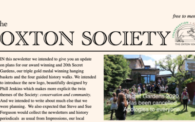 OXTON SOCIETY APRIL NEWSLETTER